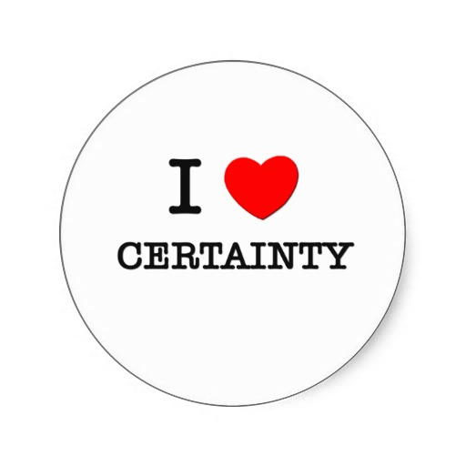 The Danger of Certainty