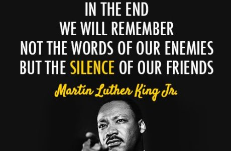 We Can Not Be Silent